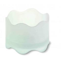 Стъклен вълнообразен свещник за чаена свещ