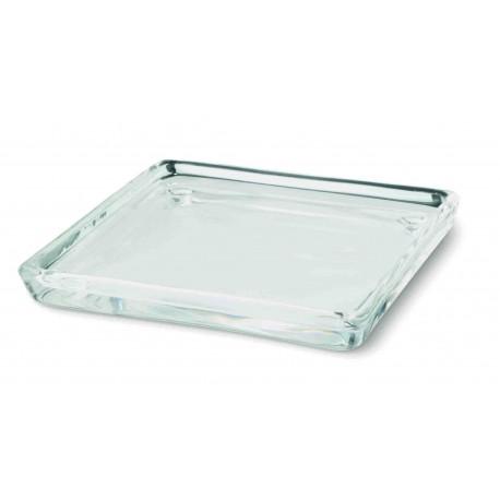 Стъклен свещник подложка квадрат
