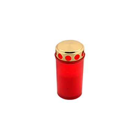 """Свещ """"Червена светлина с капак"""" 12 см   тип 130"""